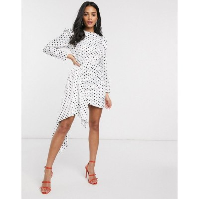 キープセイク ミニドレス レディース Keepsake Foolish polkadot mini dress in porcelain polka dot エイソス ASOS