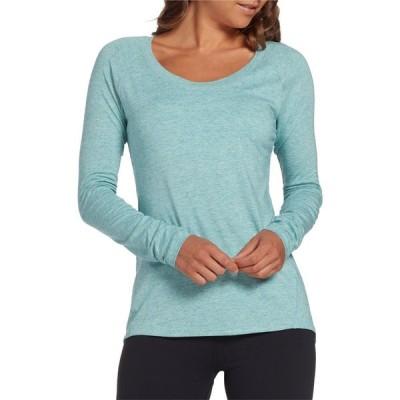 キャリー アンダーウッド CALIA by Carrie Underwood レディース 長袖Tシャツ トップス Everyday Long Sleeve Shirt Nile Blue Cloud Heather