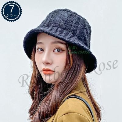 帽子 レディース バケットハット ボアハット つば広帽子 ハット かわいい 韓国風 冬 暖かい 彼女 贈り物 秋 オシャレ おしゃれ ギフト もこもこ 学生