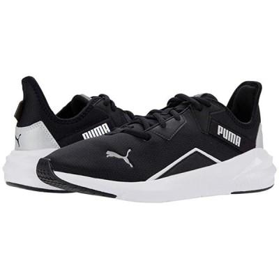 プーマ Platinum レディース スニーカー Puma Black/Puma White/Metallic Silver