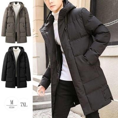 ビジネスコート 冬物(coat355 フード付き 軽量 グリーン ダウンコート 冬 ブラック M〜7XL ロング丈 ジャンパー