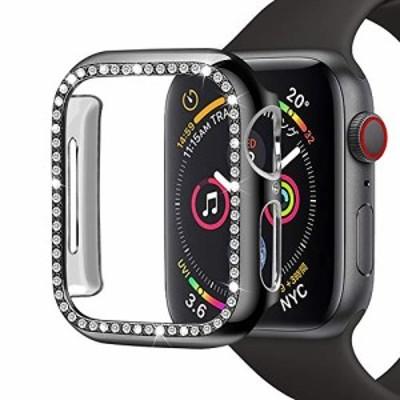 『送料無料!』Movone for Apple Watch カバー 38mm 保護ケース PC素材 メーキ加工 クリスタル ラインストーン 耐衝撃性 軽量超簿 装着簡