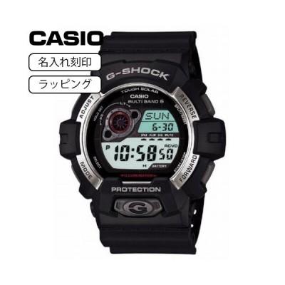 CASIO カシオ 腕時計 Gショック G-SHOCK メンズ ジーショック 電波ソーラー デジタル GW-8900-1 ブラック 【名入れ刻印】
