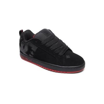 スニーカー ディーシーシューズ DC Shoes Men's Court Graffik SE Low Top Sneaker Shoes Black Red Black Footwear