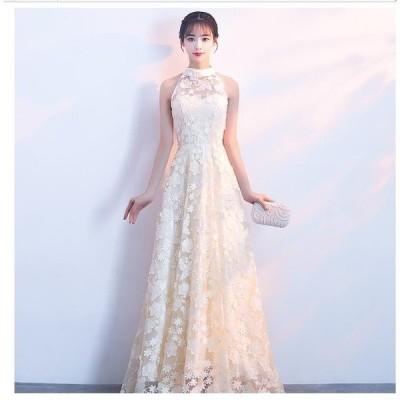 人気定番 ロングドレス 結婚式ドレス パーティードレス ウエディングドレス 二次会 衣装 舞台 披露宴 演奏会 発表会 ピアノ 大きいサイズ イベント用