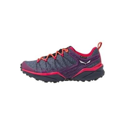 サレワ シューズ レディース ハイキング DROPLINE GTX - Hiking shoes - ombre blue/virtual pink