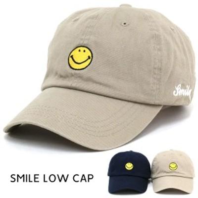 送料無料 POWER TO THE PEOPLE ローキャップ キャップ 帽子 メンズ レディース シンプル 刺繍 スマイル ストリート アメカジ ペアルック