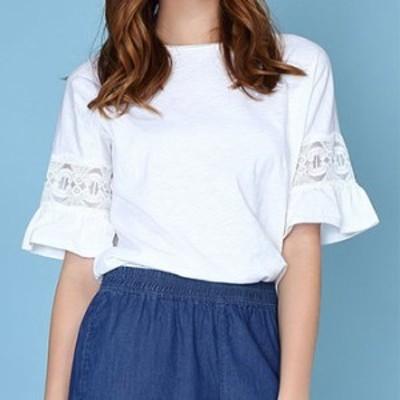 トップス 春 ホワイト 刺繍 五分袖 シンプル 可愛い おしゃれ 大人 レディース 結婚式 fe-2362