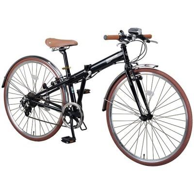 CAPTAIN STAG ブラッシュアップ FDB700BAA (ブラック) 折り畳み自転車(700×32C・7段変速) メーカー直送