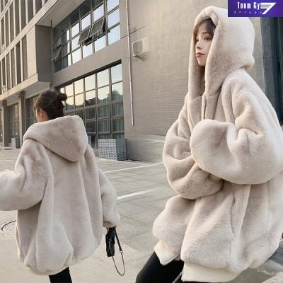 ボアブルゾンレディースパーカーボジャケットフード付き韓国風秋冬アウターコートもこもこ防寒冬ゆったりアウトドア暖かいあったか20代-50代 新品