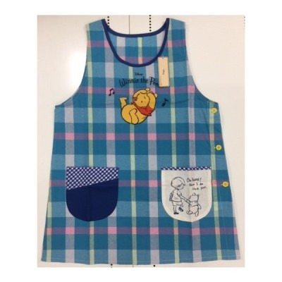 エプロン プーBL 保育士 主婦 幼児 子供 母の日 幼稚園 保育園 キャラクター プレゼント ギフト