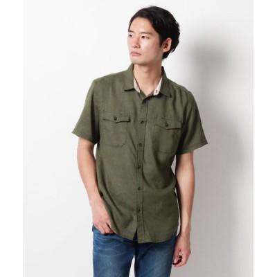 THE SHOP TK/ザ ショップ ティーケー ダブルポケットカジュアルシャツ カーキ(027) 02(M)