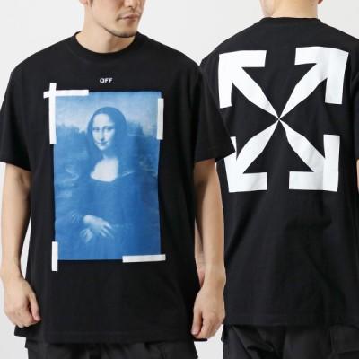 OFF-WHITE オフホワイト VIRGIL ABLOH OMAA038R21JER001 MONALISA モナリザ アロー クルーネック オーバーサイズ 半袖 Tシャツ 1001/BLACK-WHITE メンズ