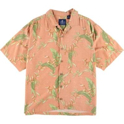 CARIBBEAN JOE シルク ハワイアンアロハシャツ XL /eaa035390