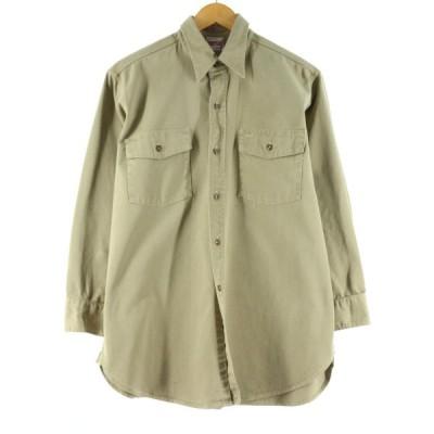 40年代 シアーズ Sears HERCULES ヘラクレス 猫目ボタン マチ付き 長袖 チノワークシャツ メンズM ヴィンテージ /eaa142622