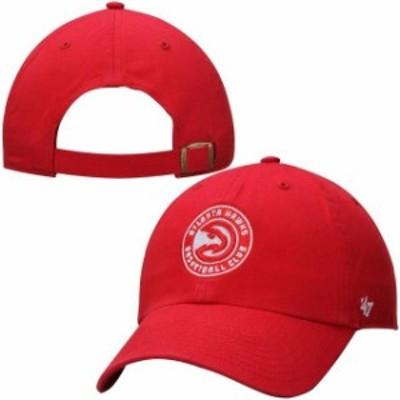 47 フォーティーセブン スポーツ用品  47 Brand Atlanta Hawks Red Circle Logo Cleanup Adjustable Hat
