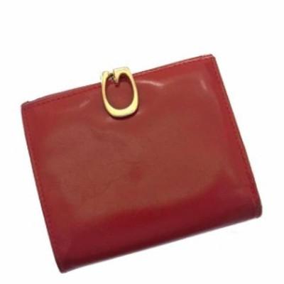 グッチ GUCCI 二つ折り財布 財布 小物 サイフ 小銭入れあり レディース G金具 中古 E269