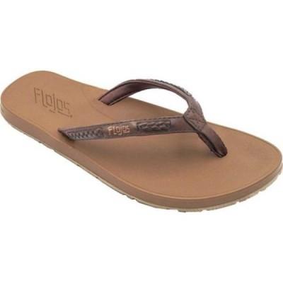 フロジョス Flojos レディース サンダル・ミュール トングサンダル シューズ・靴 Adina Thong Sandal Brown/Tan Synthetic Nubuck