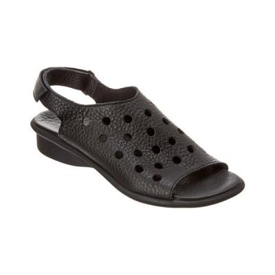 アーク サンダル シューズ レディース Arche Saotto Leather Sandal black leather