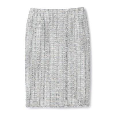 スカート ESTNATION / フリンジツイードタイトスカート