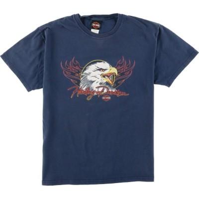 ヘインズ ハーレーダビッドソン バイクTシャツ USA製 /eaa056567