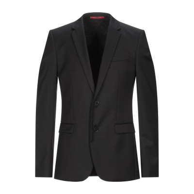 HUGO HUGO BOSS テーラードジャケット ブラック 50 バージンウール 100% テーラードジャケット