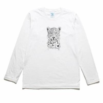 ヒョウ 動物 生き物 長袖Tシャツ ロングスリーブ