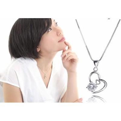 オープンハートネックレス ネックレスレディース スワロフスキー アレルギー対応 ペンダント スワロフスキー 一粒ネックレス アクセサリ