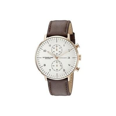 ストゥーリングオリジナル 腕時計 Stuhrling Original 803 04 メンズ Monaco アナログ ディスプレイ クォーツ ブラウン 腕時計