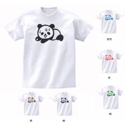 おもしろ Tシャツ ダメパンダ 白