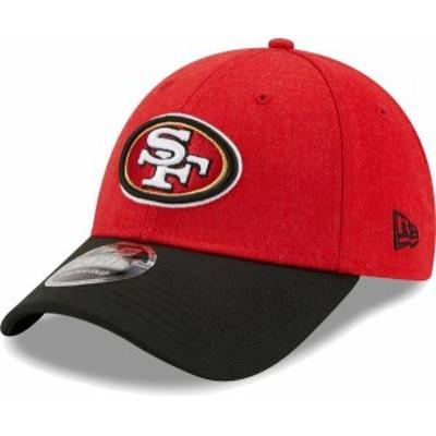 ニューエラ メンズ 帽子 アクセサリー New Era Men's San Francisco 49Ers Red League 9Forty Adjustable Hat