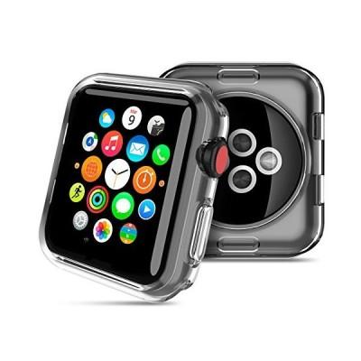 HOCO コンパチブル Apple Watch ケース アップルウォッチ カバー 透明 メッキ TPU 保護ケース 耐衝撃性 超簿 脱着簡単 Appl