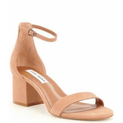 スティーブ マデン レディース サンダル シューズ Irenee Ankle Strap Suede Block Heel Dress Sandals Tan