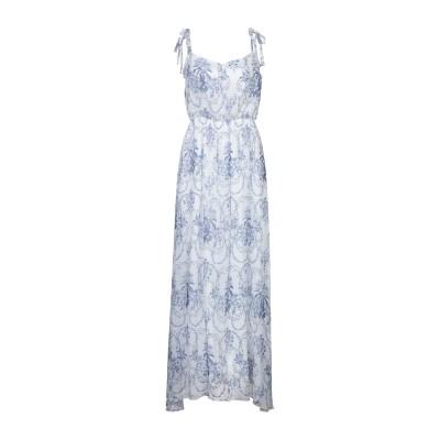 ブルーガール ブルマリン BLUGIRL BLUMARINE ロングワンピース&ドレス ホワイト 40 100% レーヨン ロングワンピース&ドレス