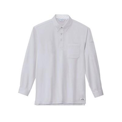 ジーベック XEBEC 長袖ポロシャツ 6185 22 シルバーグレー S (シルバーグレー S)