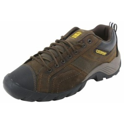 caterpillar キャタピラー ファッション シューズ Caterpillar Mens Argon Slip Resistant Dark Brown Work Sneakers Shoes Sz: 10