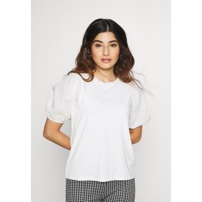 ドロシー パーキンス Tシャツ レディース トップス PETITES COTRAST TEE - Print T-shirt - white