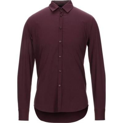 エン アヴァンセ EN AVANCE メンズ シャツ トップス solid color shirt Deep purple