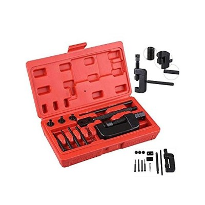 SOFEDY Motorcycle Chain Rivet Tool Kit 13-Piece Set with Red Carrying Case 好評販売中