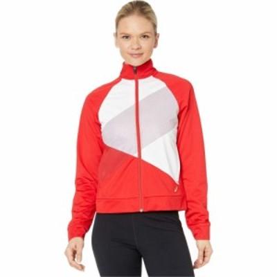 アシックス ASICS レディース ジャケット アウター Tokyo Full Zip Warm Up Classic Red/Brilliant White