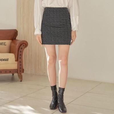 レディース スカート Shine tweed mini skirt