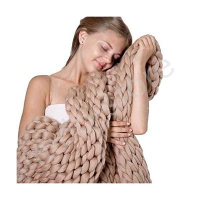 新品未使用!!送料無料!!ZFF Handwoven Chunky Knit Yarn Blanket Soft for Boho Home and Bedroom Decor Bed Throw Non-Shedding Polyester
