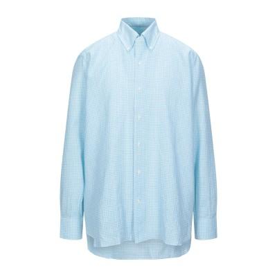 GIAMPAOLO シャツ スカイブルー 39 コットン 70% / リネン 30% シャツ