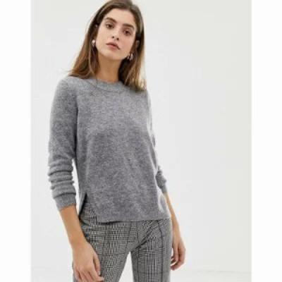 リバーアイランド ニット・セーター long sleeve jumper in dark grey Grey dark