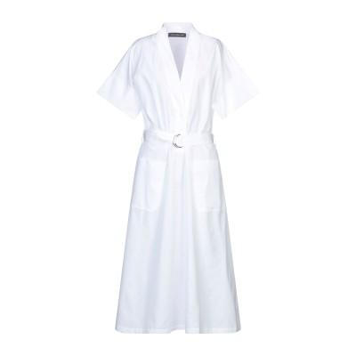 デパートメント 5 DEPARTMENT 5 7分丈ワンピース・ドレス ホワイト L コットン 100% 7分丈ワンピース・ドレス
