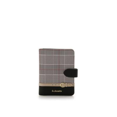 (& chouette/アンドシュエット)グレンチェックパスポートケース/レディース ブラック