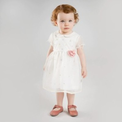 ワンピース レース ひざ下丈 半袖 袖あり ラウンドネック Aライン 切替 刺繍 袖付き シースルー 大人可愛い きちんと感 春