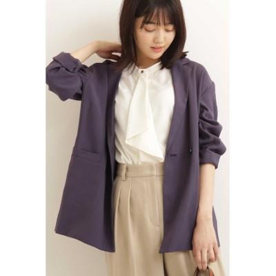 【エヌナチュラルビューティベーシック】 ライトテーラードジャケット レディース ブルー M N.Natural Beauty Basic
