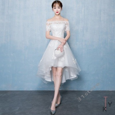 ウェディングドレス 結婚式 シンプル 上品 ワンピース ウェディングドレス ウエディング