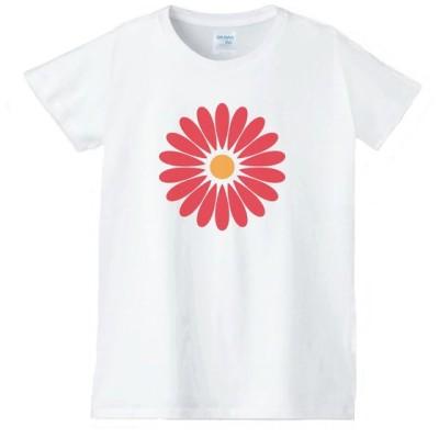 花 フラワー Tシャツ 白 レディース 女性用 jfw66